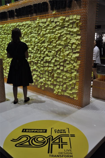 #yellow #postit Cape Town World design Capital 2014