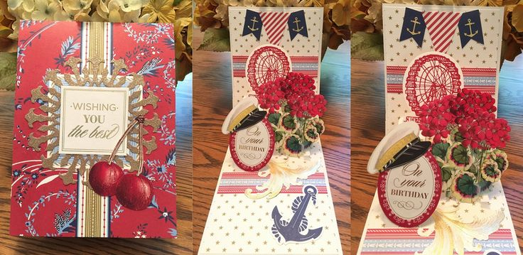 Anna Griffin Happy Birthday Pop-up card using Madison & Seafarer collections-by Kaye K. Lystad Kirk