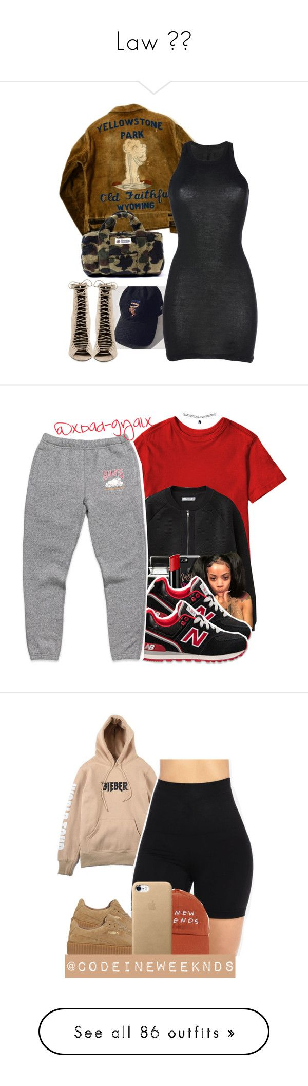 """Law 🉐💮"" by kiarra-jones ❤ liked on Polyvore featuring DRKSHDW, Kendall + Kylie, MANGO, Casetify, Le Métier de Beauté, New Balance, Wet Seal, Justin Bieber, Puma and Cheap Monday"