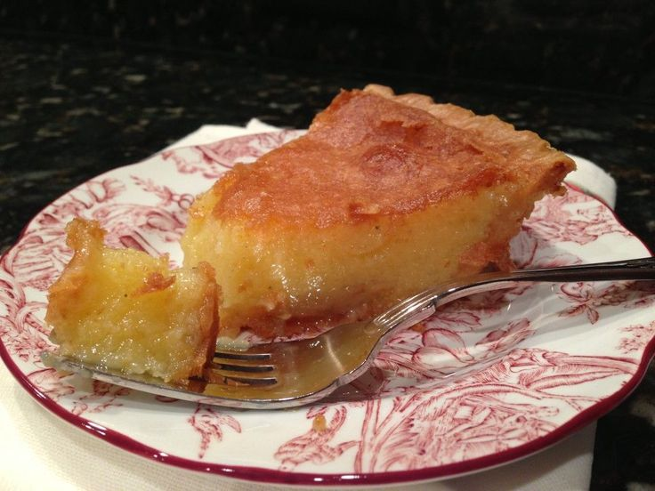 Classic Chess Pie. The best pie ever!! Pour 2 cups sugar, 2 Tbsp. cornmeal, 1 Tbsp. flour, 1/4 tsp. salt, 1/2 cup butter, 1/4 milk, 1 Tbsp. white vinegar, 1/2 tsp. vanilla and 4 eggs into a pie crust. Bake for 50-55 in a 350 degree oven.