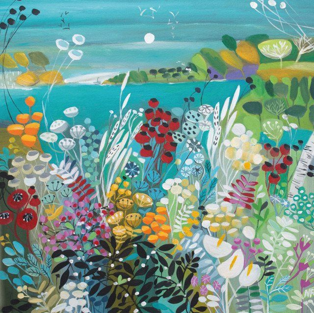 'Calling Me Home' by Painter Natalie Rymer. Blank Art Cards By Green Pebble. www.greenpebble.co.uk