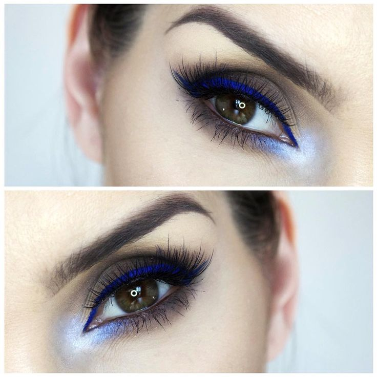 Blue winged eyeliner