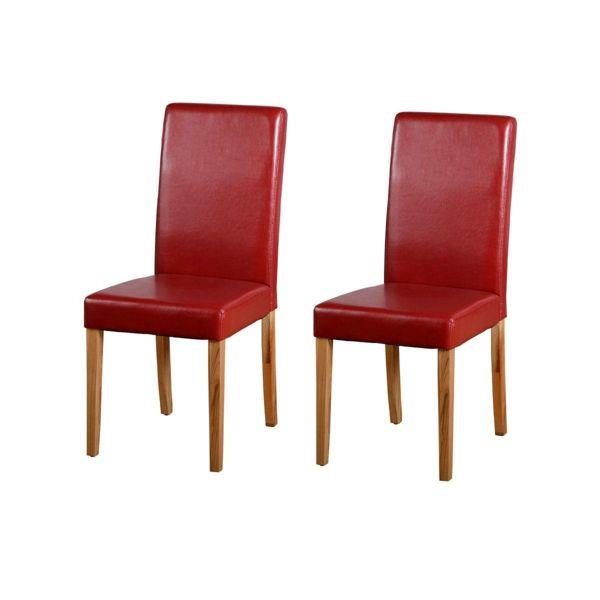 rote lederstühle esszimmer schöne wohnideen