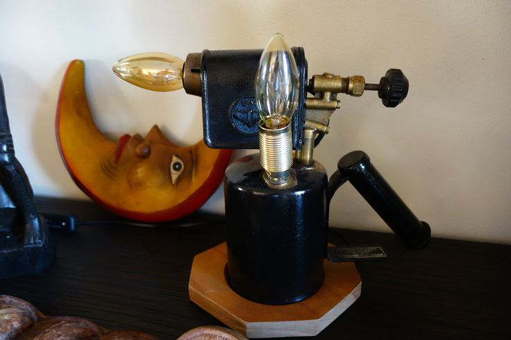 1968 Blow torch turned into a table lamp.