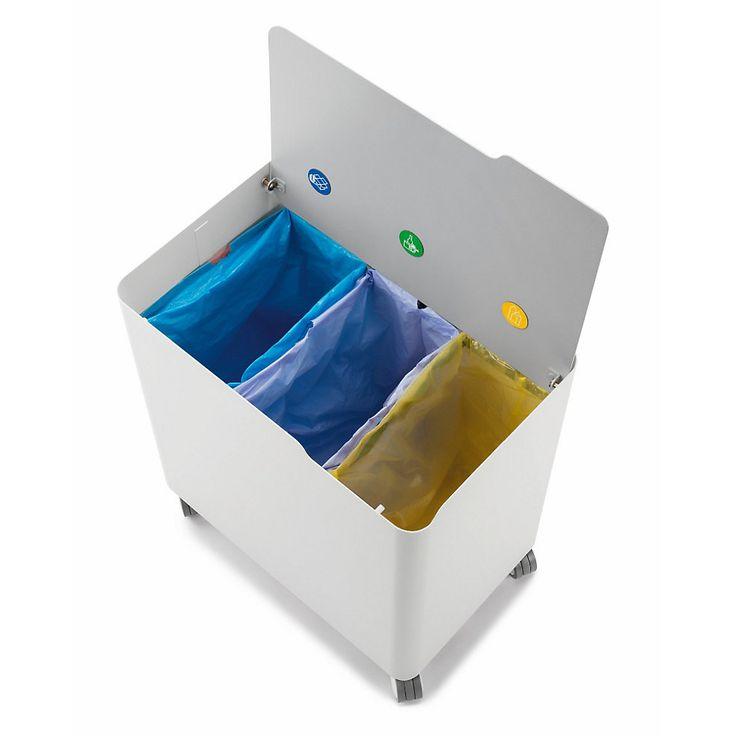 ECOBOX ist eine große Müllkiste auf Rollen – formschön, stabil und robust. Ausgestattet mit einer einfachen aber cleveren... - Abfallsammler Ecobox