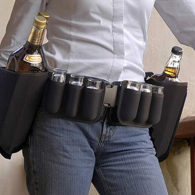 The Booze Belt: Constant beer supply right at your fingertips! My kinda thing:D