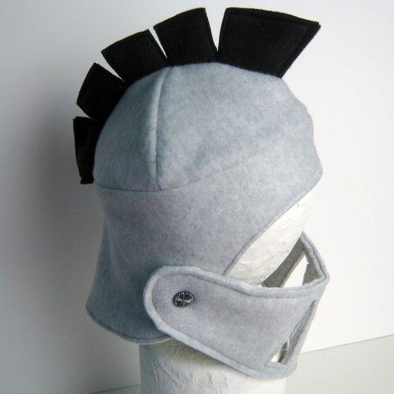 fleece knight helmet