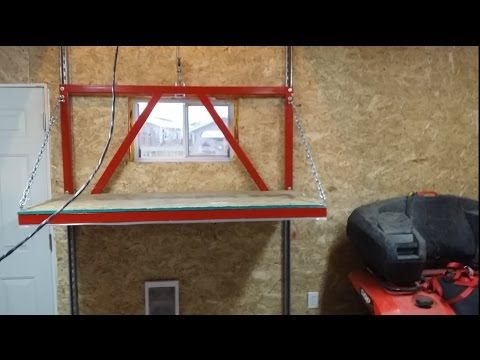 Garage Attic Lift Construction - YouTube http://www.mancavegenius.org/category/man-cave-ideas/