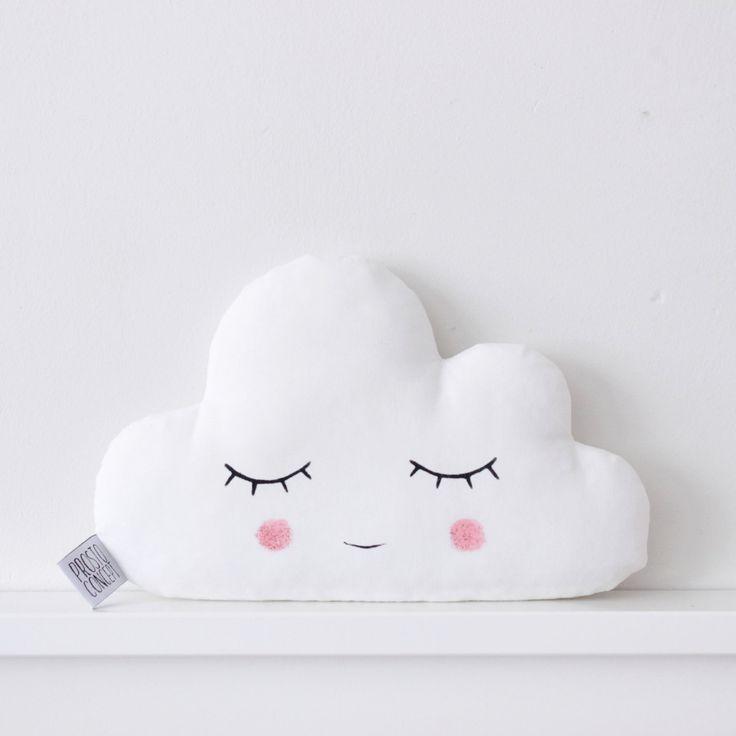 Baby Cloud Kissen, kleine weiße Wolke Kissen, weiße Wolke Cu …