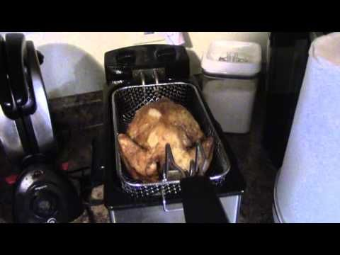 Wings in My Butterball Indoor Electric Turkey Fryer - YouTube