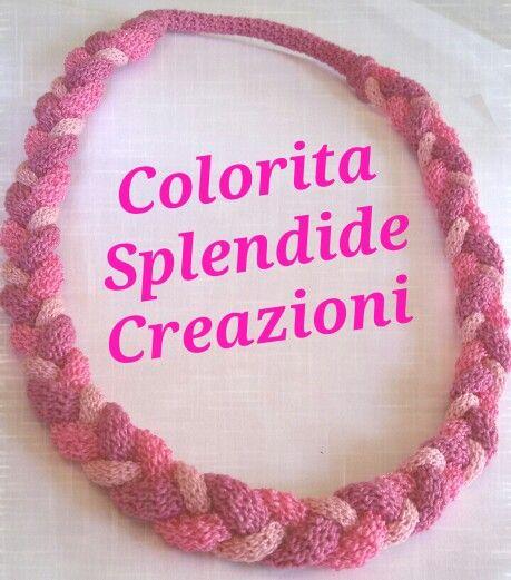 Collana handmade uncinetto sfumature di rosa♡ ColoritaSplendideCreazioni