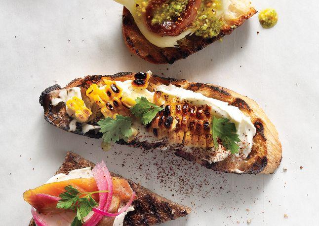 ... Cilantro Crostini, Mexicana Amp, Crema Mexicana, Appetizers Grilled