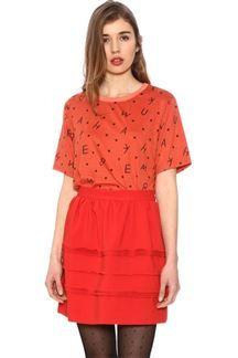 Falda corta roja
