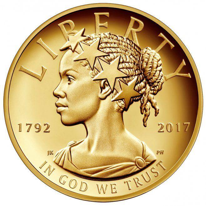 Il Tesoro americano ha coniato una nuova moneta che ritrae la Libertà, personificazione femminile del primo emendamento della Costituzione Usa. Come da