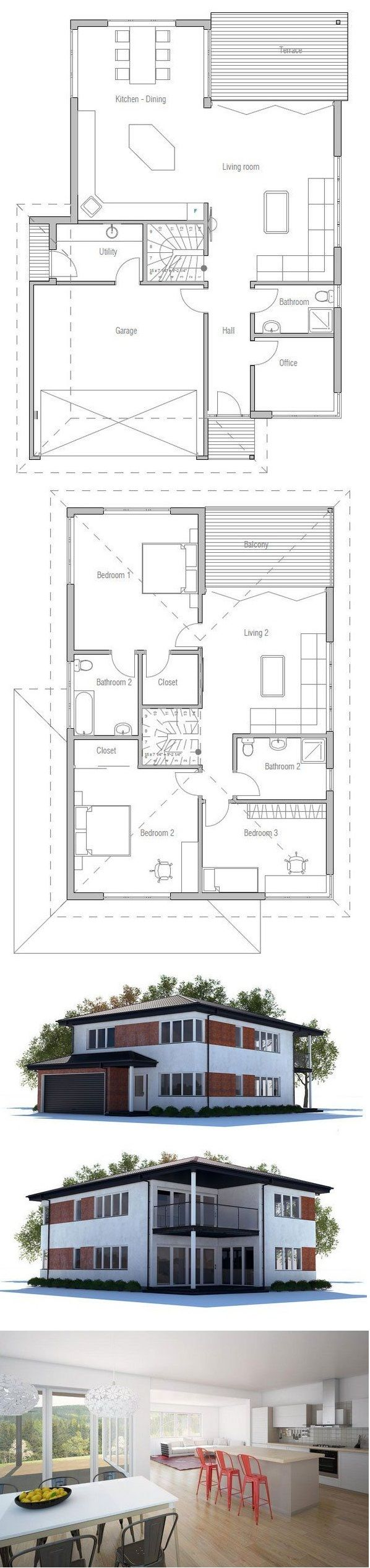 Would use 2nd floor living space and create another bedroom. Also update 2nd floor bath from shower to tub