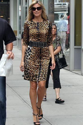Платье с принтом леопардовое