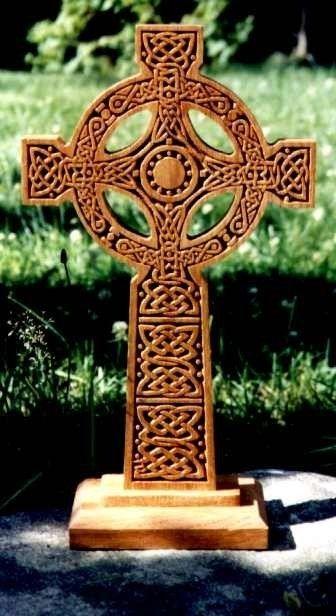 Custom Made Carved Celtic Crosses