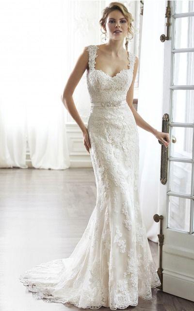 Sheath Shoulder Straps Natural Sleeveless Floor-length Wedding Dresses wfs0055