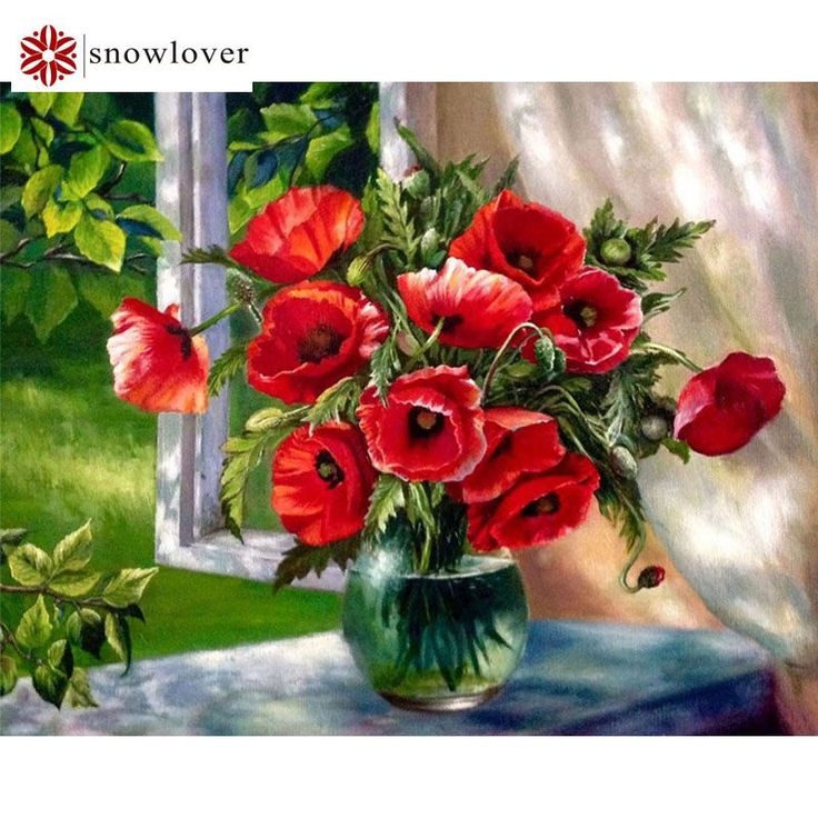 3D DIY Diamond Embroidery,5D Diamond painting,Diamonds mosaic,poppy Flowers Vase full rhinestone Crystal cross stitch,Christmas