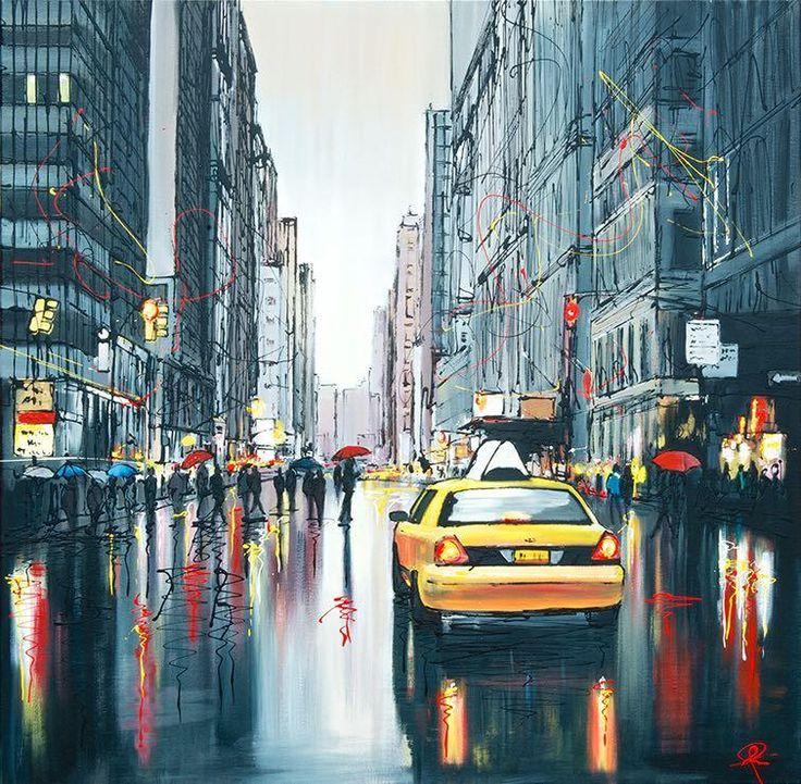 Paul Kenton artist - Taxi Lights, Artmarket Contemporary Art Gallery