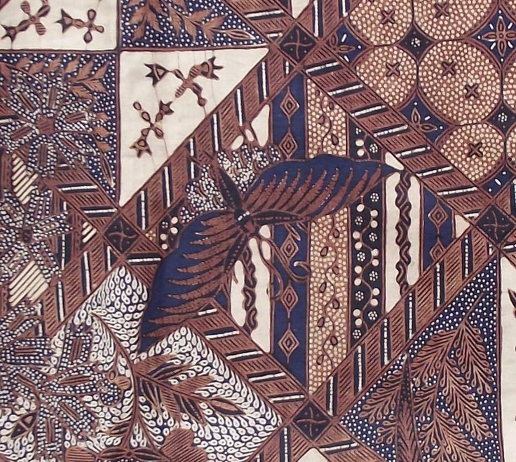 Old Batik Dutch - sogan caramel - detail 1of2