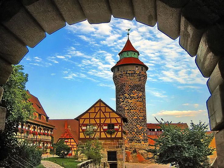 Nuremberg Castle in Bavaria, Germany