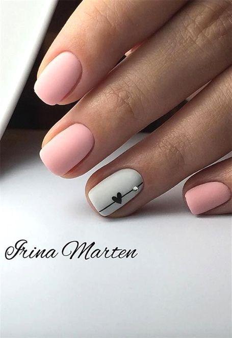 65 beeindruckende Nail Art Designs für kurze Nägel #beeindruckende #designs
