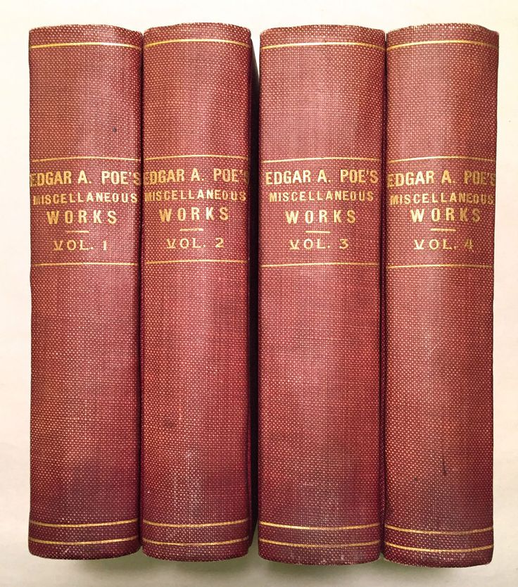The Works of the Late Edgar Allan Poe 4 Volumes - Griswold Redfield 1857-58 HC  | eBay