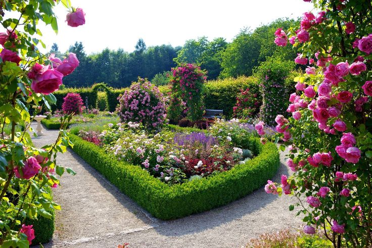 Der Rosengarten im Garten der Sinne auf dem Kreuzberg im saarländischen Merzig besticht durch seine Vielfalt an duftenden Rosensorten und dazu farblich abgestimmten Stauden. Das wunderschöne Bild verdanken wir der Fotografin Brigitte Krauth.