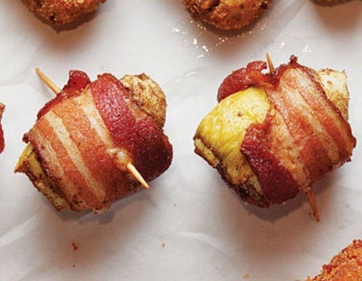 "Bacon-Wrapped Artichokes (Fondi di Carciofi)   ""Use beef bacon or lamb bacon."" -MB."