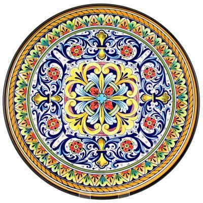 Hand Painted 'Sevilla 1' Ceramic Plate Origin: Valencia Spain