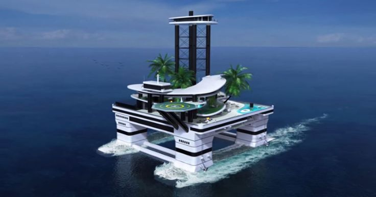 Yachts Are No Longer Cool. Insane Portable Islands Are Where It's At Now.