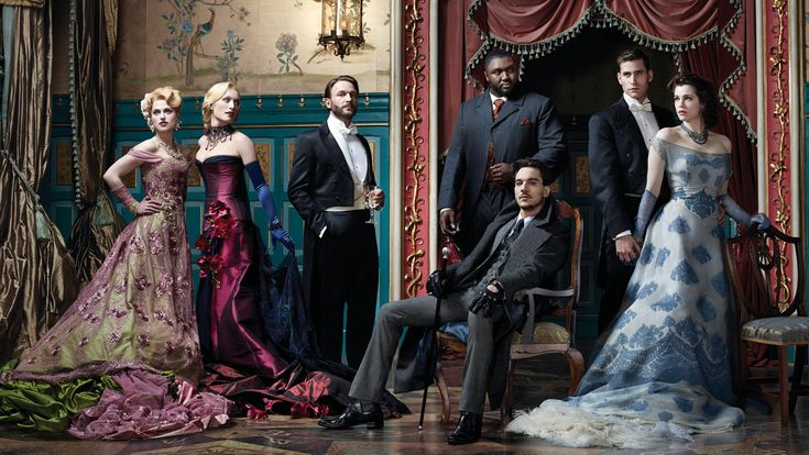 'Dracula' Cast From left: Katie McGrath, Victoria Smurfit, Thomas Kretschmann, Nonso Anozie, Jonathan Rhys Meyers, Oliver Jackson-Cohen and Jessica De Gouw.