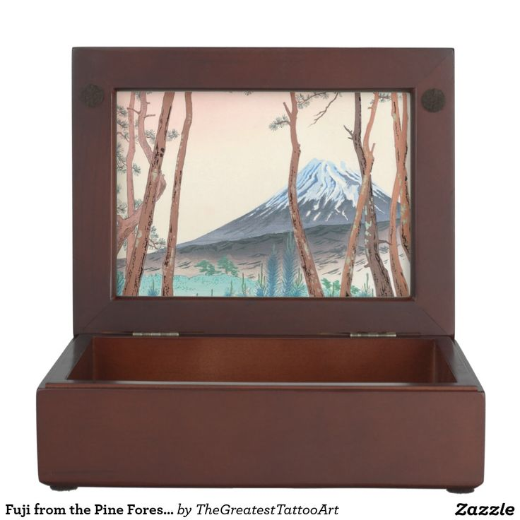 Fuji from the Pine Forest at Harajiku japanese art Memory Box