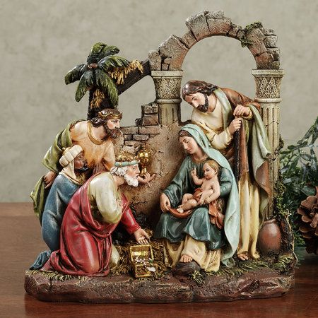Holy Family Nativity Scene Figurine by Roman