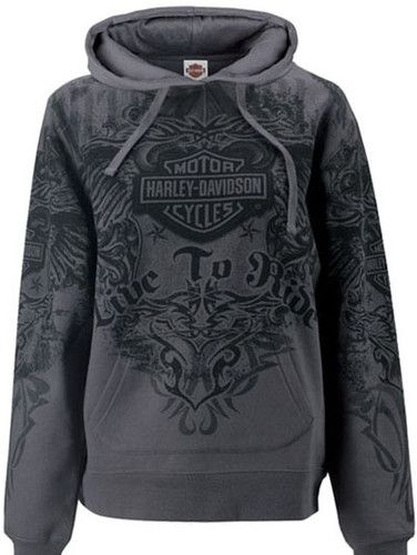 Harley Davidson Womens Tribal Wings All Over Print Pullover Hoodie Sweatshirt | eBay