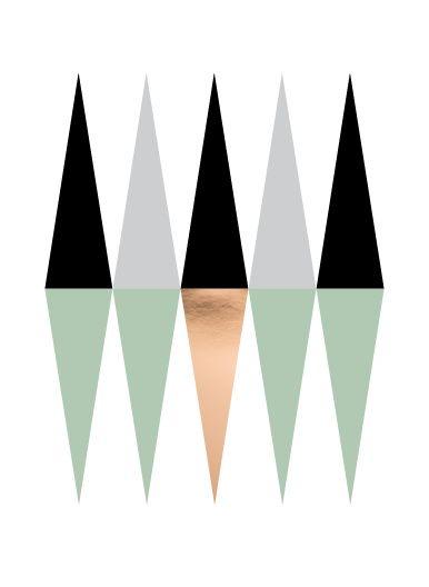 Kaart, mini poster met driehoek patroon