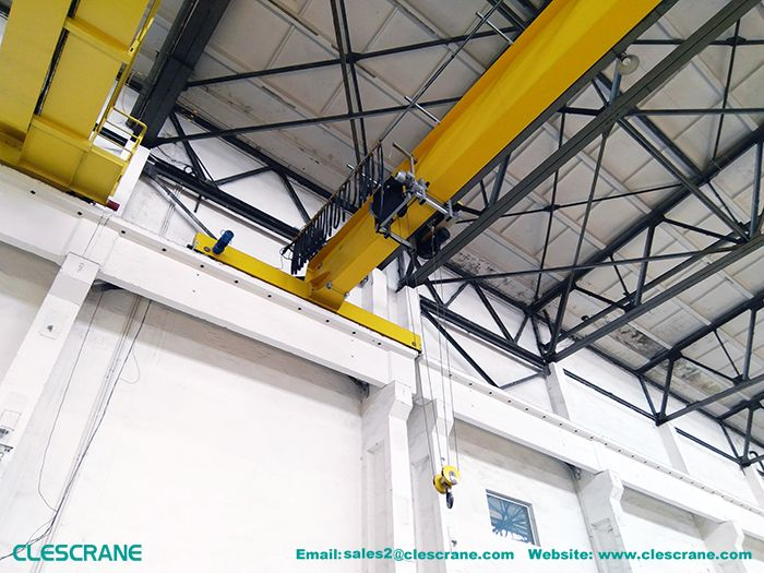 overhead crane pallets lifting-5 ton ASME top running EOT Q345 turbine processing overhead crane pallets lifting