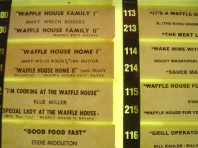 Waffle house jukebox fulla waffle house songs grits for Waffle house classic jukebox favorites