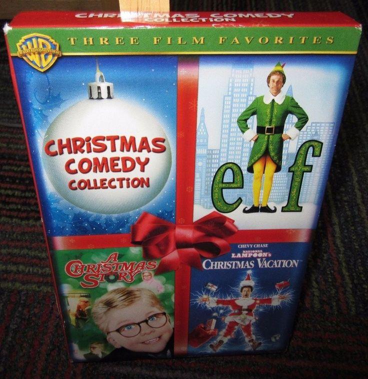CHRISTMAS COMEDY COLLECTION 3-DISC DVD SET, ELF, CHRISTMAS STORY, XMAS VACATION