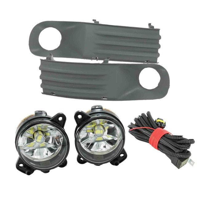 2pcs Led Light For Vw Transporter Multivan Caravelle T5 2003 2004 2005 2006 2007 2008 2009 2010 Led Fog Light Fog Lamp Bulbs Lamp Bulb Led Fog Lights Fog Lamps