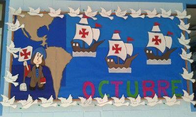 Estupendas ideas para el periódico mural del mes de OCTUBRE. Vuestras Propuestas