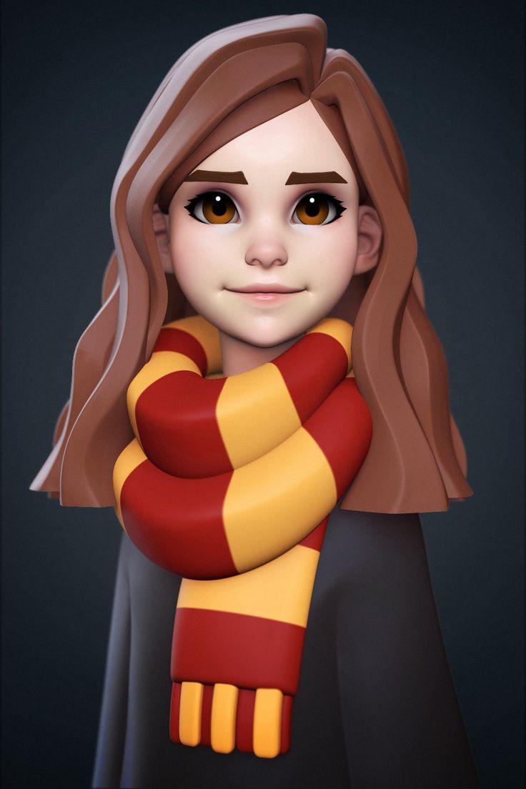 Hermione Granger, Yuriy Moskvin on ArtStation at https://www.artstation.com/artwork/KLdzX