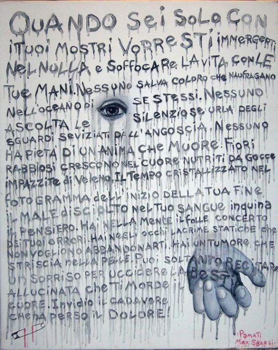 FAME DI MORTE ( poesia di MAX SBARSI) acrilico su tela 90x60   Artist: Paolo Pomati  https://www.facebook.com/pages/Artist-Paolo-Pomati/171660836182483