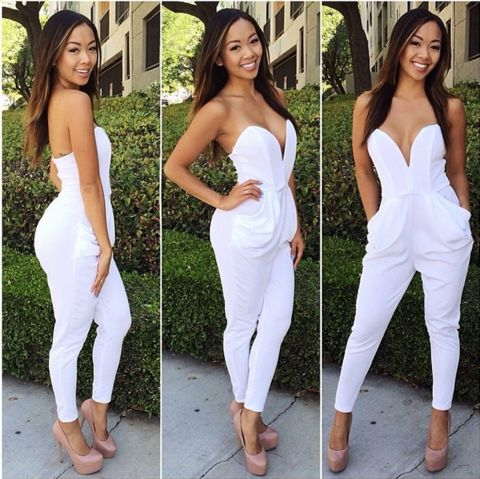 New White Jumpsuit available now at Ruby Liu! ♡ http://rubyliuboutique.com/collections/jumpsuits?page=2
