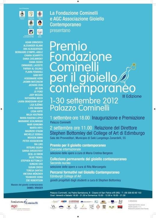 PREMIO FONDAZIONE COMINELLI PER IL GIOIELLO CONTEMPORANEO - III EDIZIONE - 2012