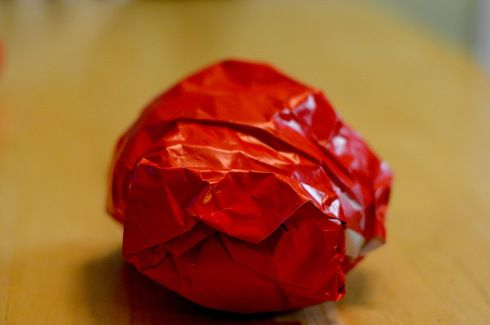 Supplies: Leftover gift wrap, index cards, marker, tape Preparation: 1. Write the verse on index cards, one word or phrase per card. 2. Make a fist sized ball with gift wrap. Tape together. 3. Tape...