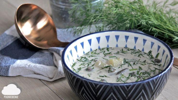 Zupa pieczarkowa w oczekiwaniu na wiosnę– PodNiebienie #zupa #zupapieczarkowa #PodNiebienie #mashroomsoup #mashroom #mashrooms #dill #koperek #koper #kuchniapolska