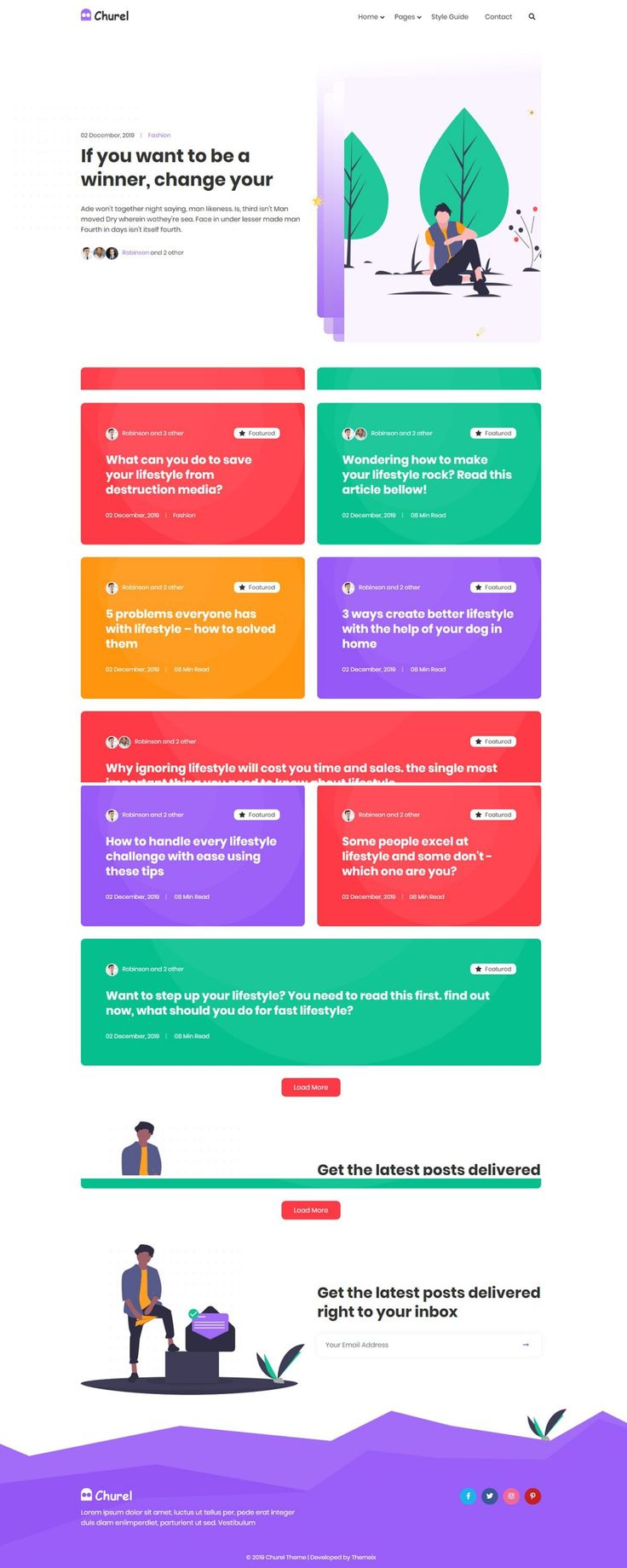 Churel Responsive HTML Template Modern blog, Blog
