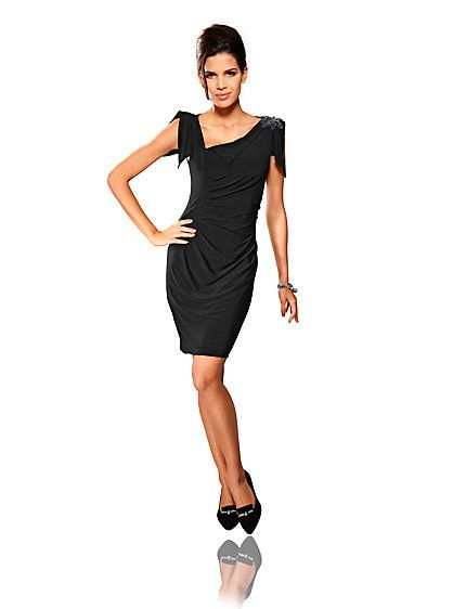 Elegant #dress with asymmetrical neckline